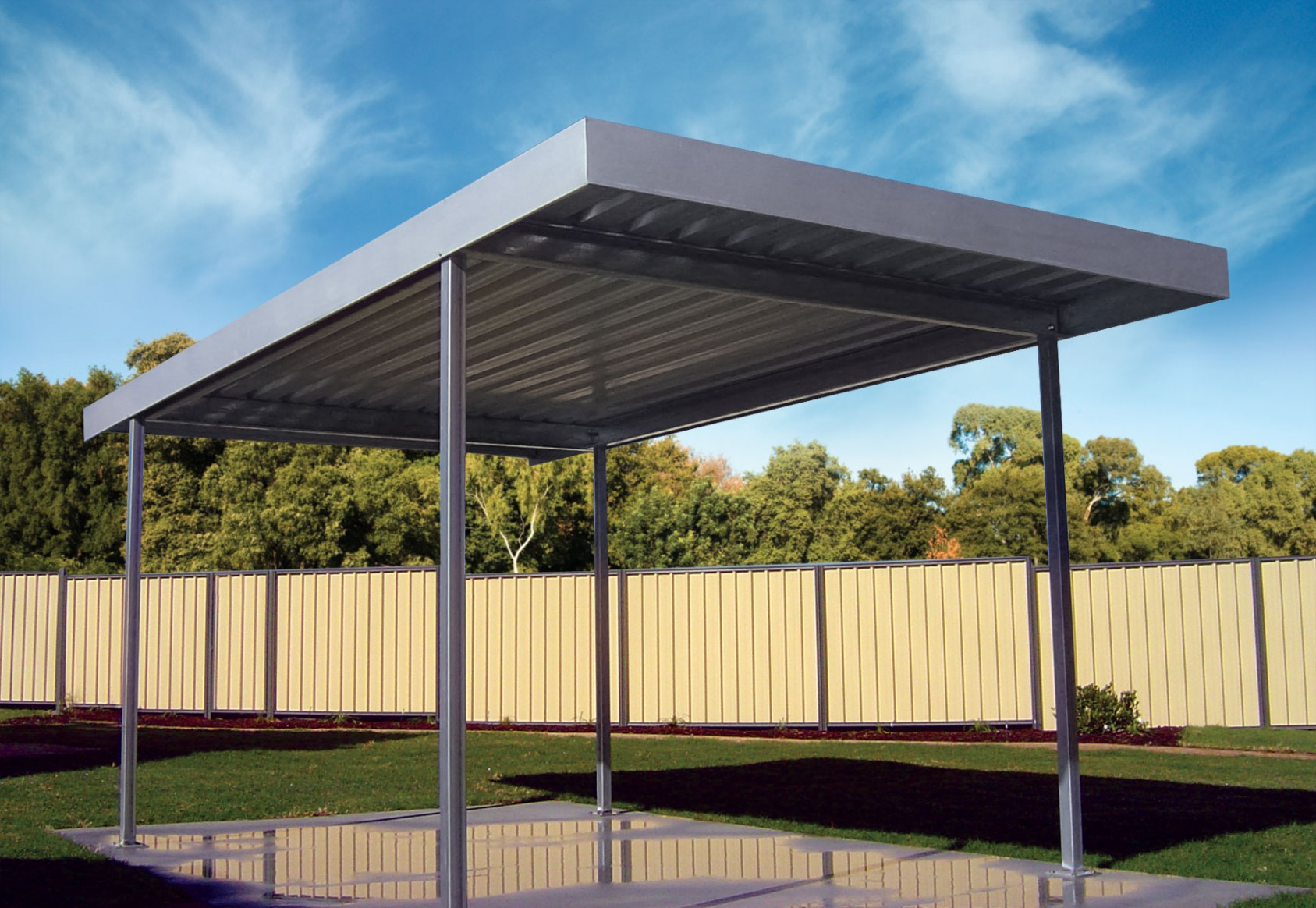 Simple Guidance For You In Flat Roof Carport | flat roof carport