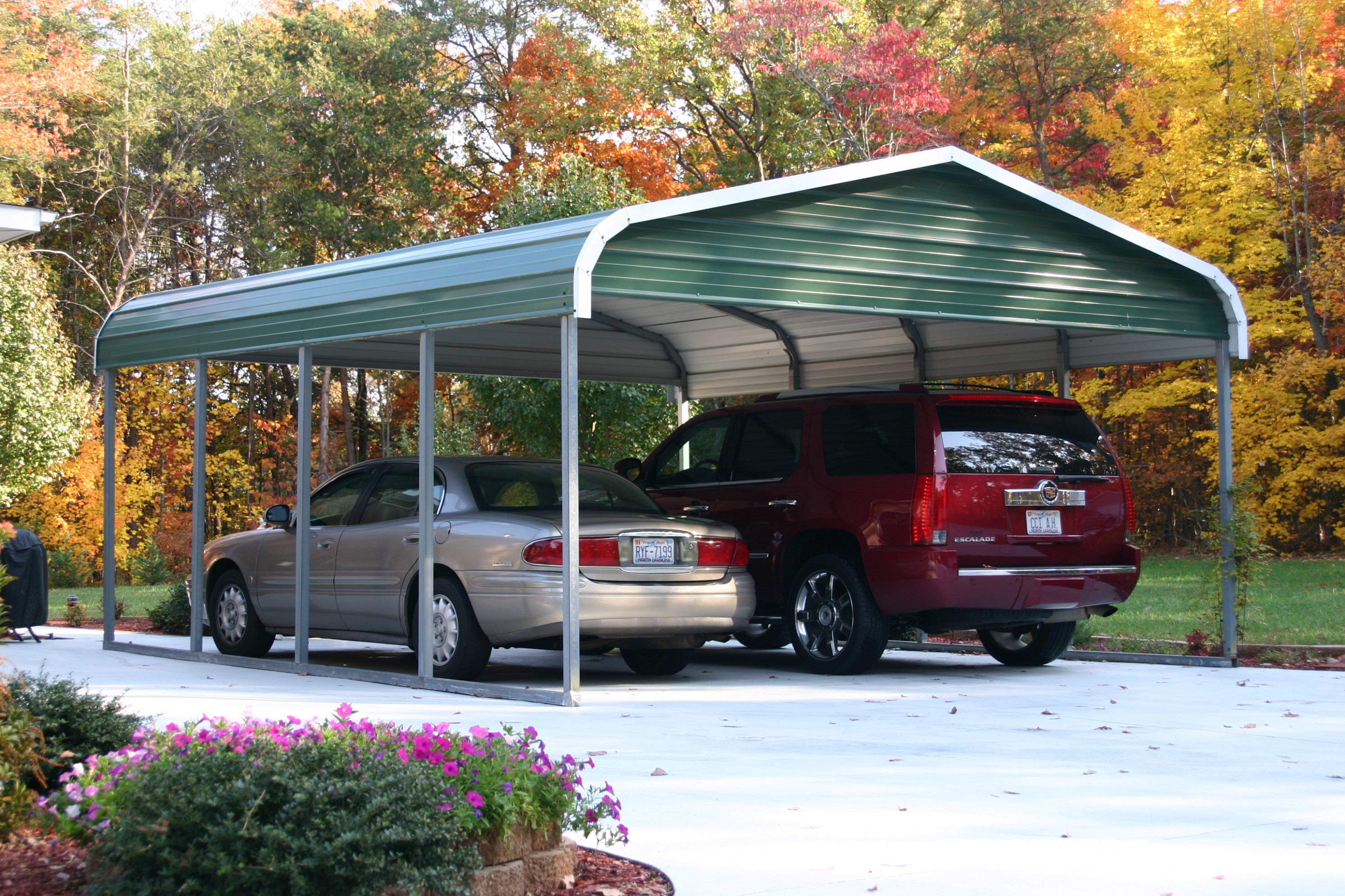 The Death Of One Car Metal Carport | one car metal carport