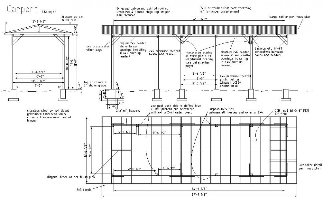 7 Mind Numbing Facts About Metal Roof Carport Plans | metal roof carport plans