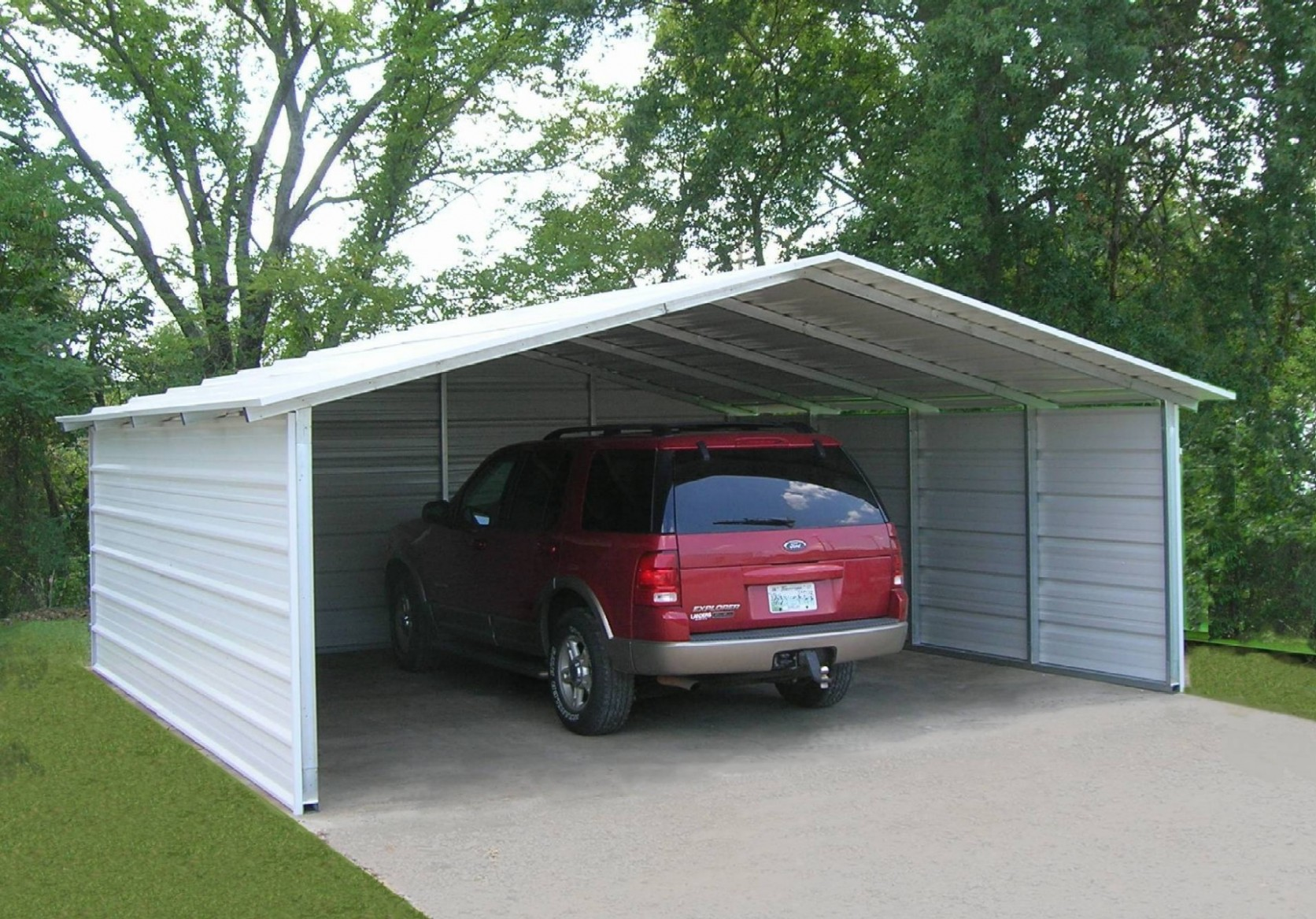 Seven Fantastic Vacation Ideas For Portable Double Carport | portable double carport