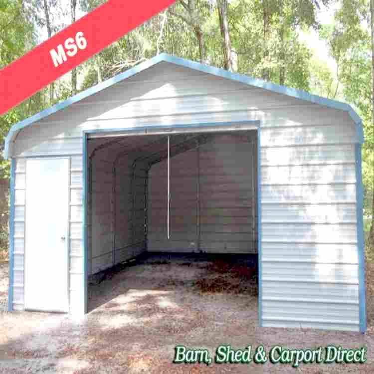 fully enclosed metal shed 1839 x 2139 x 739 ms6 barn shed