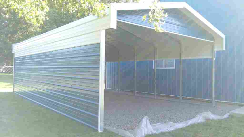 Enclose a metallic carport with stable wooden