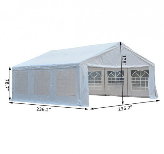 Outsunny Canopy Tent 20'x20' White | Aosom
