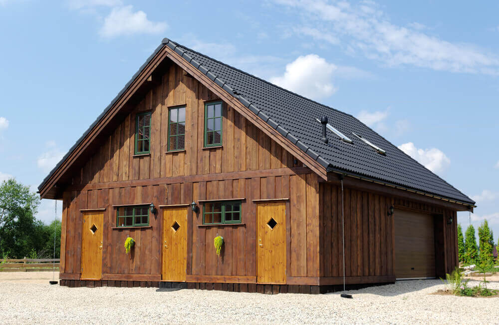 Large Wooden Garage With A Room Above06071