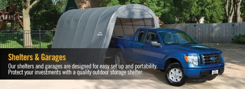 cropped portable garage shelters