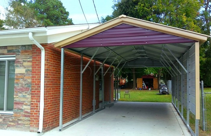 how to build a metal carport frame it yourself kits steel your own backyard ideas 700x450