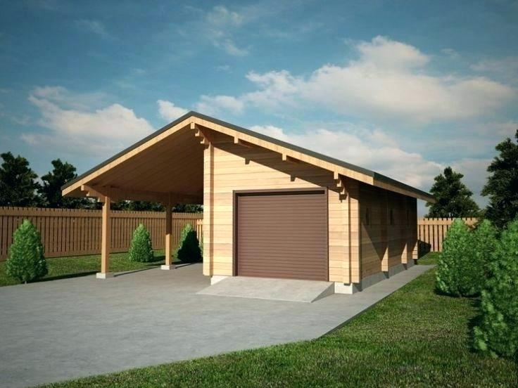 Quick Garden Garage And Carport Combination Very Practical Timber Garage With A Carport For More Timber Garages Visit Quick Raised Garden Beds