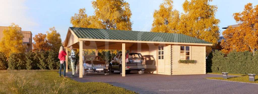 Wooden Carport With Shed For Sale Usa 6 1024x375