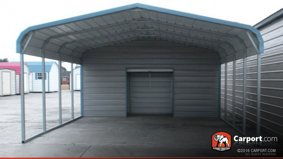 10 Car Carport 10' X 106' With Utility Shed | Shop Metal Carports Online! How To Move A Portable Carport