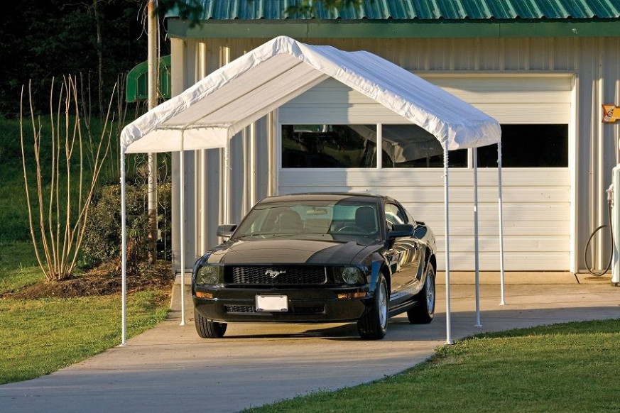 10x20x8 ShelterLogic 6 Leg Canopy Carport Portable Garage ..