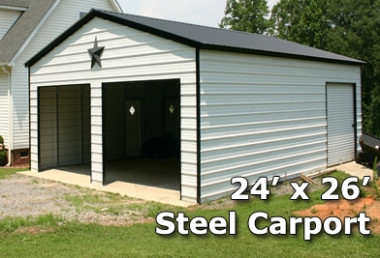 7x7 Fully Enclosed Steel Garage Carport Installation Included Game Portable Carport