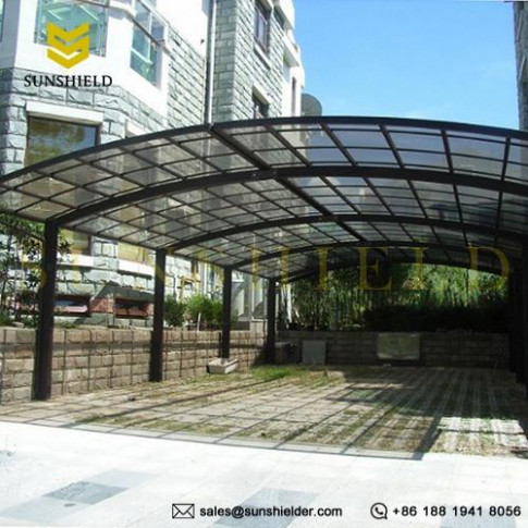 Aluminum Carport Awnings For 2 Cars Clear Top Parking Canopy Top Rated Portable Carport