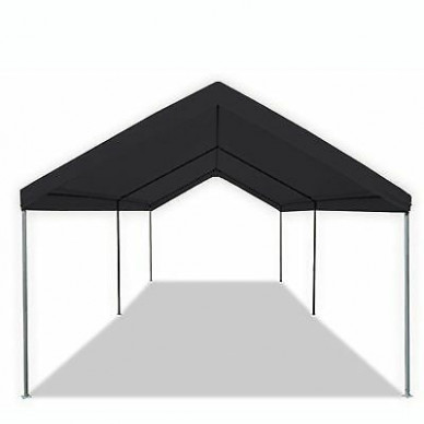 BLACK PORTABLE 13X13 Carport Canopy Garage Tent Shelter Cover Kit ..
