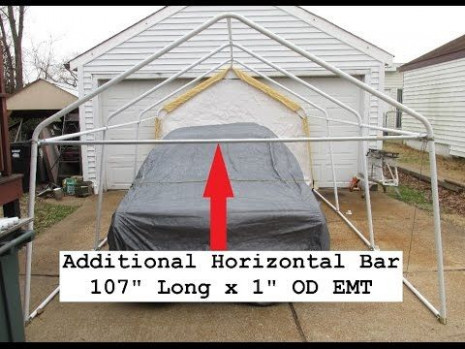 Harbor Freight Portable Garage Upgrade Reinforcing Tests ...