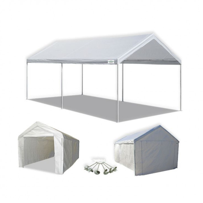Portable Carport Canopy W Sidewall Domain 10 X 20 Heavy ..
