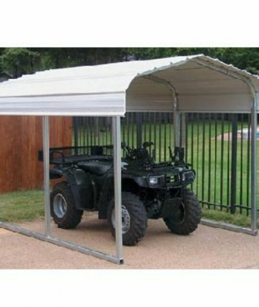 Small Steel Carport 8 X 8 BetterShelters.com BetterShelters