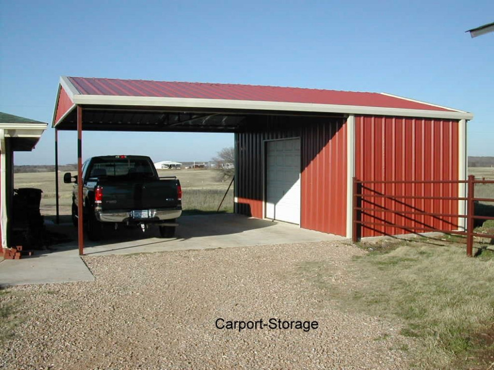 Storage Shed With Carport | Quality Metal Buildings, Awnings And ..