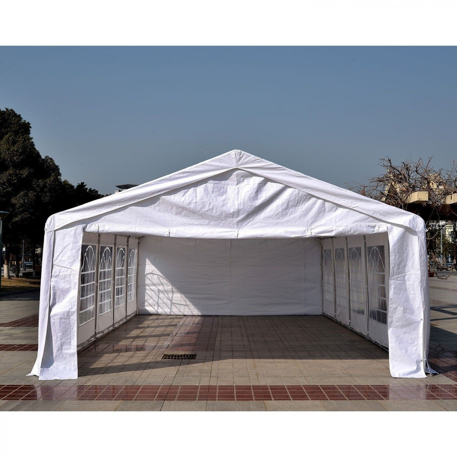 Outsunny HEAVY DUTY 32x16FT Large Carport Canopy Wedding ..