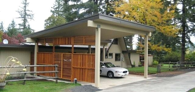 Carport Frame Carport And Front Entry For A Frame Home Contemporary Shed
