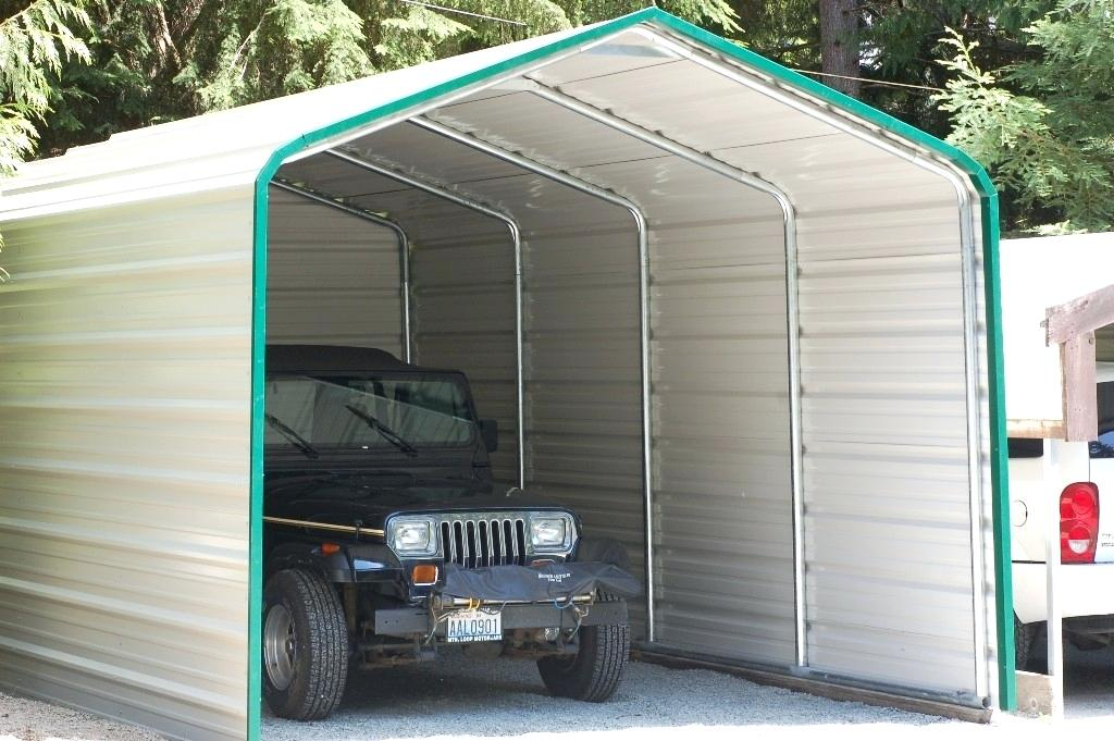 Enclosed Carports Enclosed Carport Cover With Trim Enclosed Carports Installed