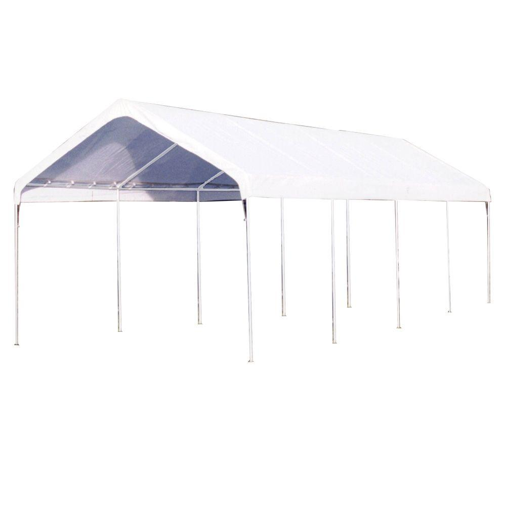 king canopy portable garages car canopies c81027pc 64 1000