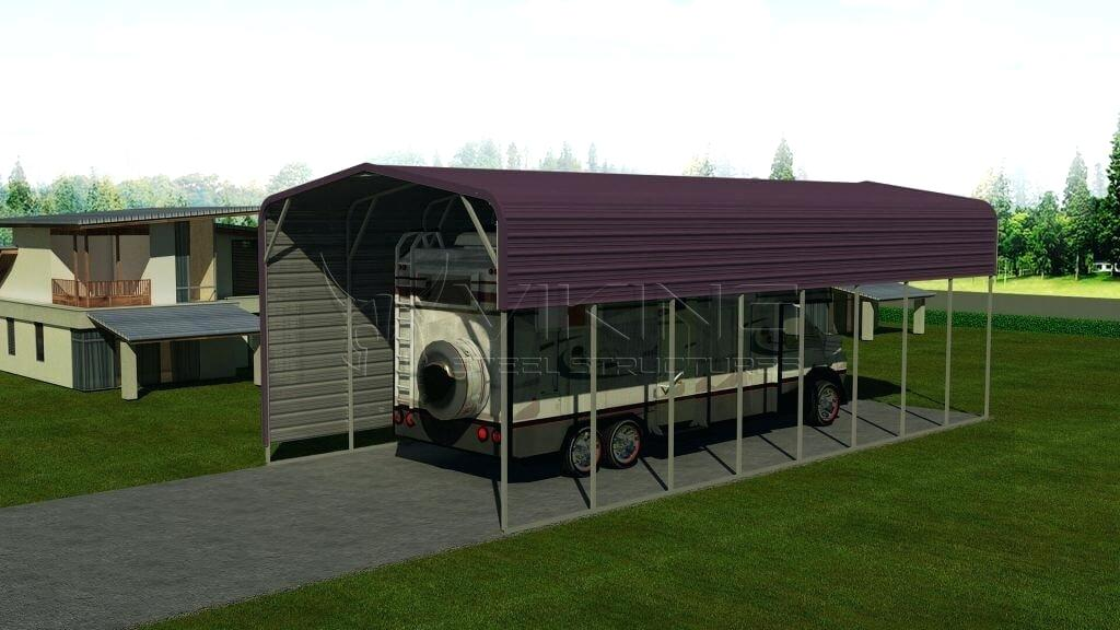 Motorhome Shelter Metal Carport Portable Motorhome Shelters