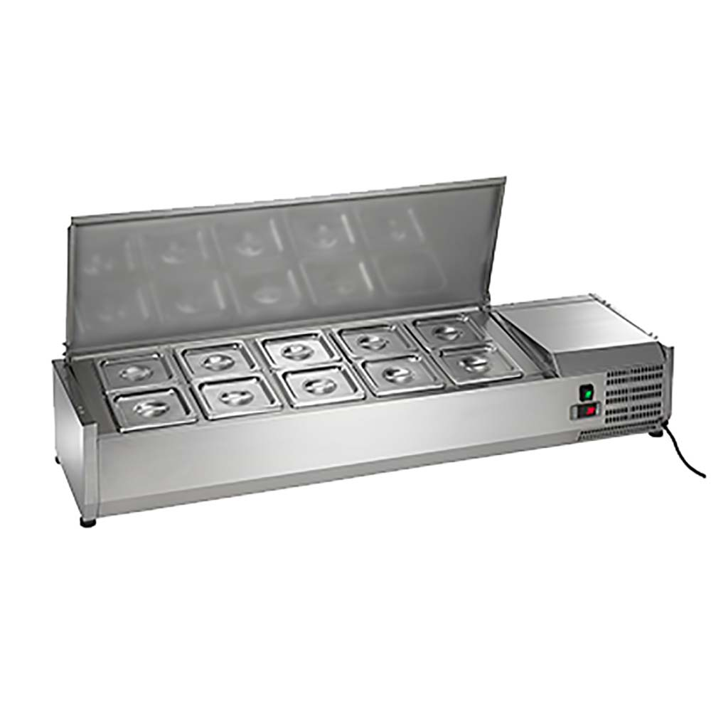 Pleasant Refrigerated Countertop Prep Unit For Your Arctic Air Acp55 Ten Pan Refrigerated Countertop Prep Unit Pan Rail Of Refrigerated Countertop Pre