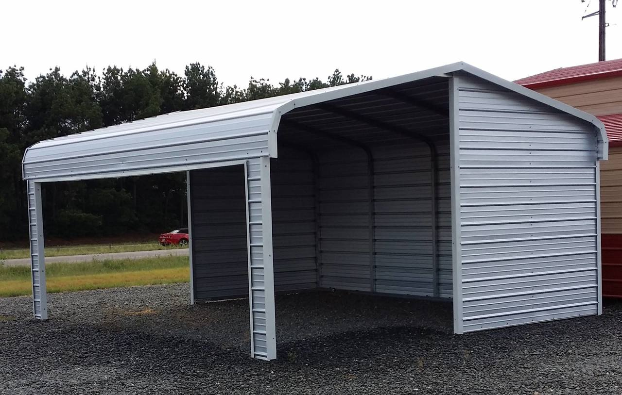 Portable Carports Kits Partial Enclosed Metal Temporary Backyard Ideas