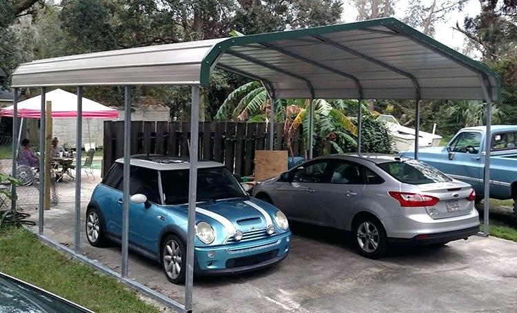 Single Car Carport With Shed Metal Carports Shelters For Sale Kits Near Me