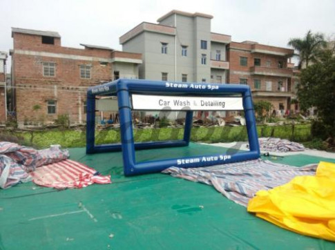 Car Wash Tent Mobile Portable Tent Inflatable Airtight ..
