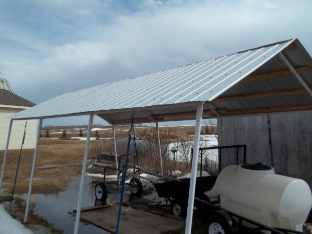Replace Canvas Roof With Corrugated Steel: 12 Steps Hard Top Portable Carport