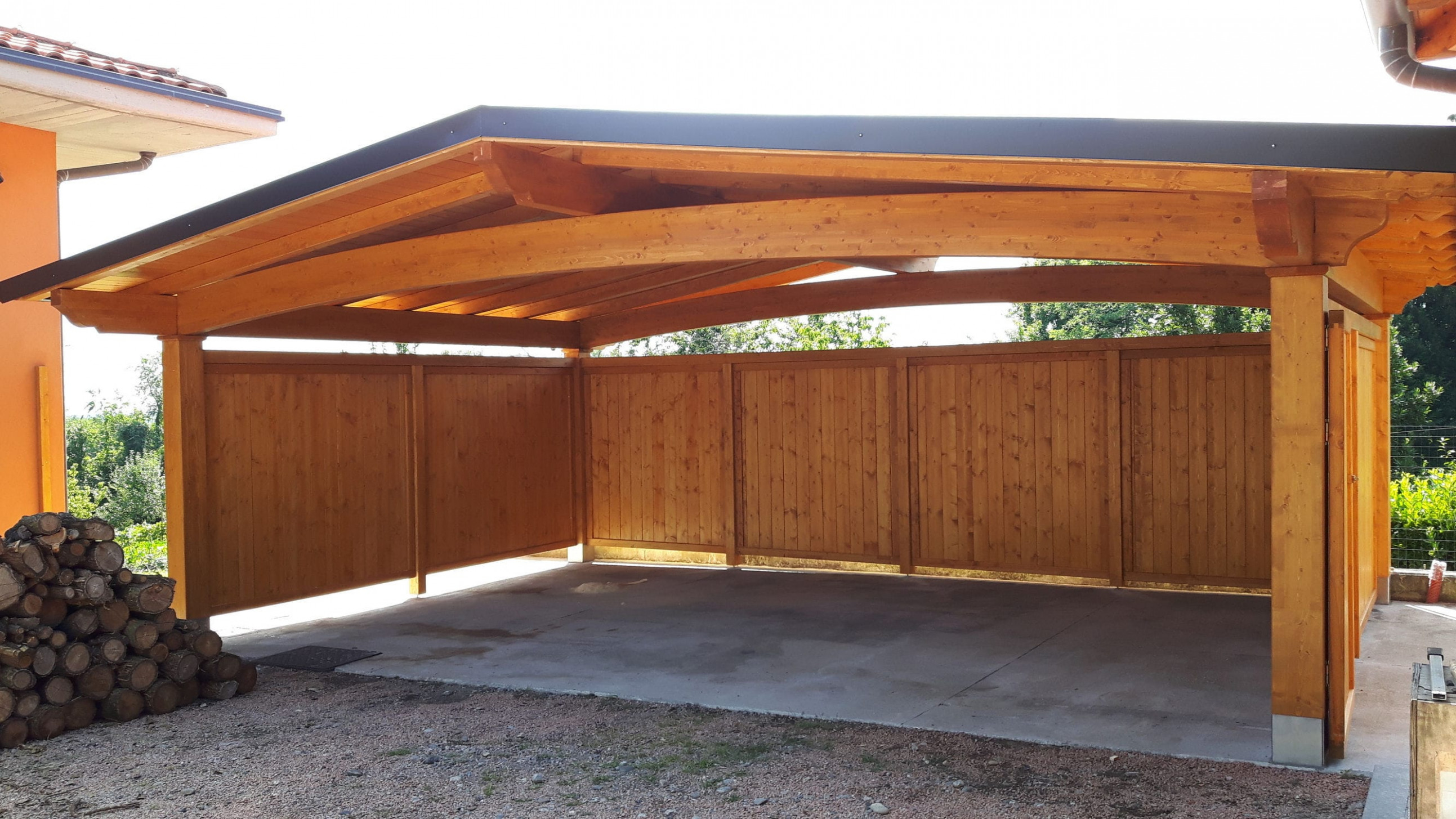 Wooden carport - ARCO - Proverbio Outdoor Design