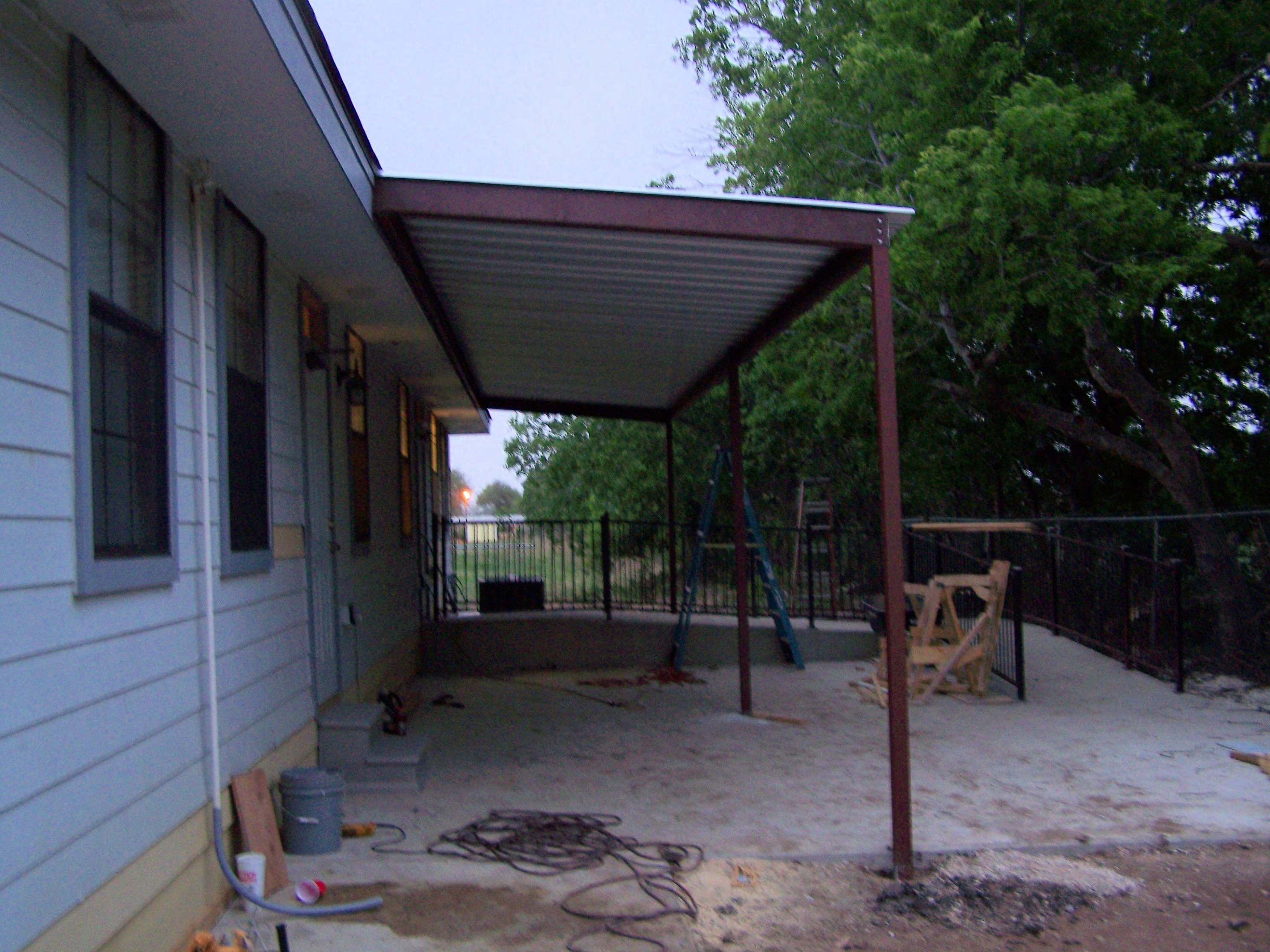 Commercial Steel Awning New Braunfels Texas Carport Menards Steel Carport.jpg