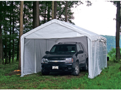 King Canopy Tan A Frame Enclosed Carport With Awning 10 King Canopy Tan A Frame Enclosed Carport.jpg