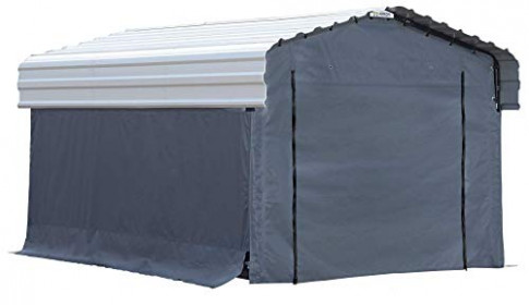 Arrow Fabric Enclosure Kit With Uv Treated Cover For 10 X Arrow 10 X 15 Carport.jpg