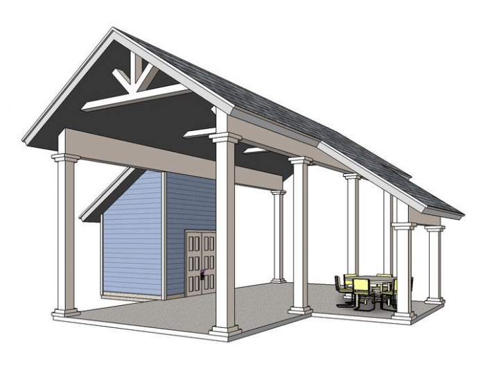006G 0161: RV Carport Plan With Storage And Covered Porch ..