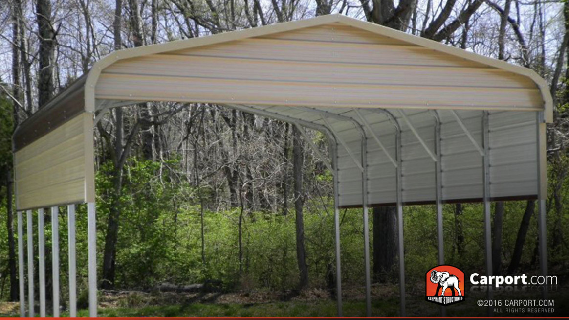 10′ X 10′ Regular Roof RV Carport Carport Metal Roof Installation