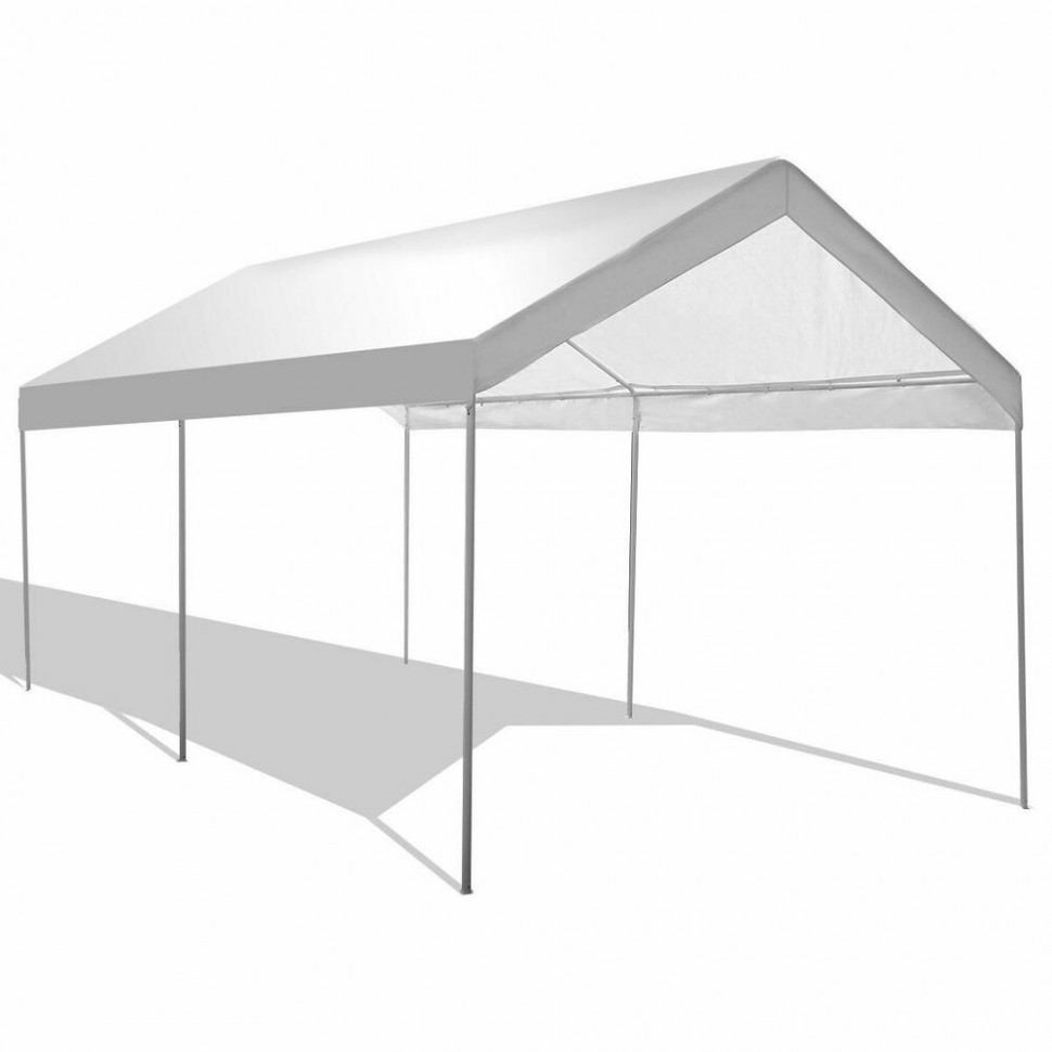10 X 20 Steel Frame Canopy Shelter Portable Car Carport ..