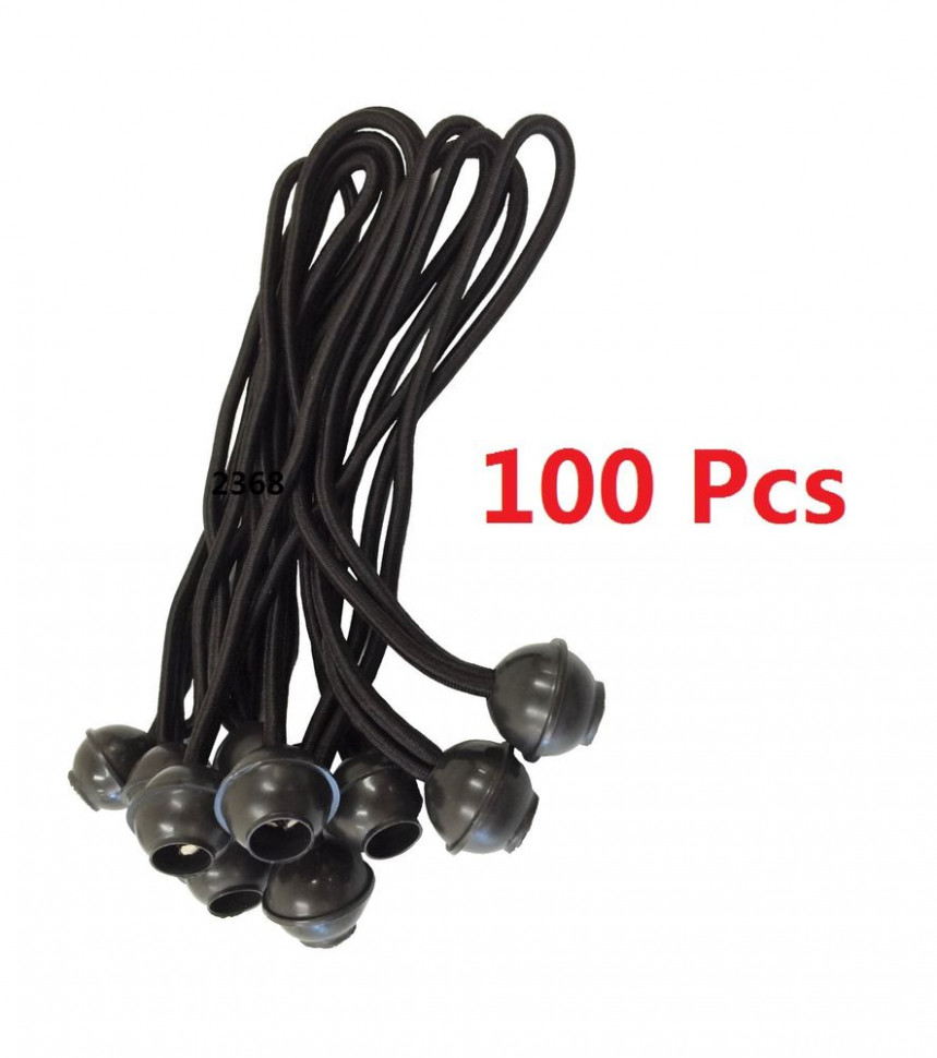 "(100) 9"" BLACK Ball BUNGEE Cord Tarp Bungee Tie Down Strap .."