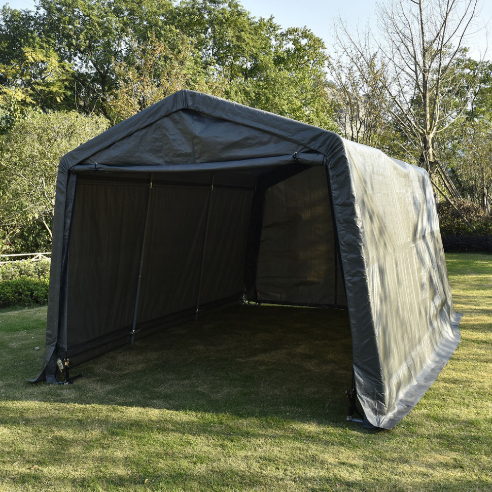 10x10x8ft Auto Shelter Portable Garage Shed Canopy Carport ..