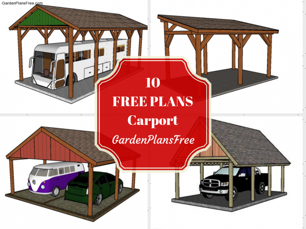 11 Free Carport Plans | Free Garden Plans How To Build ..