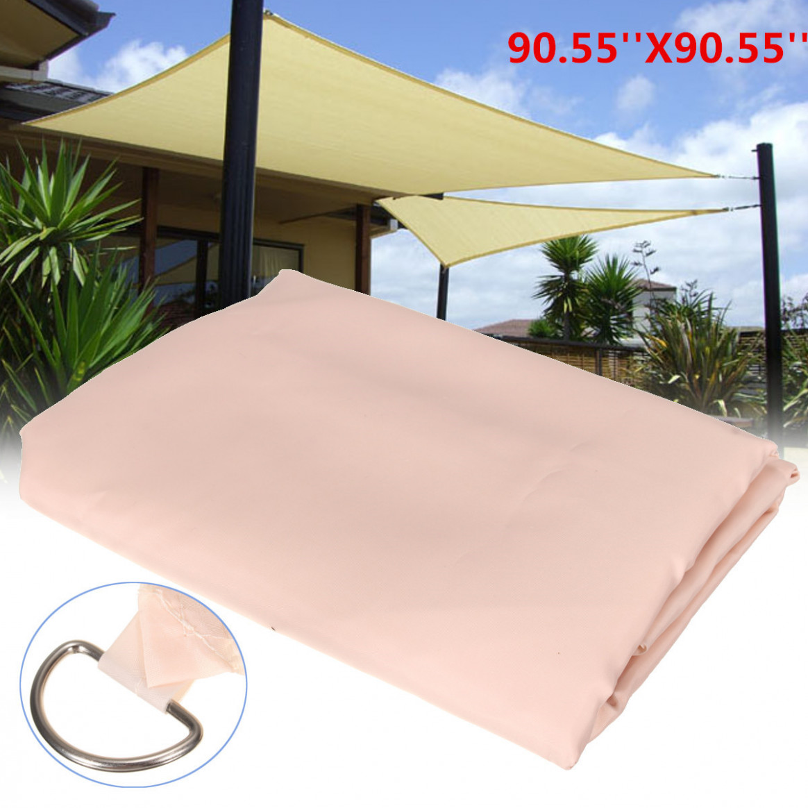 113x13m Patio Outdoor Shade Sail Garden Cover Mesh Net Polyester Car Window Awning Carport Canopy Carport Tent Replacement Parts
