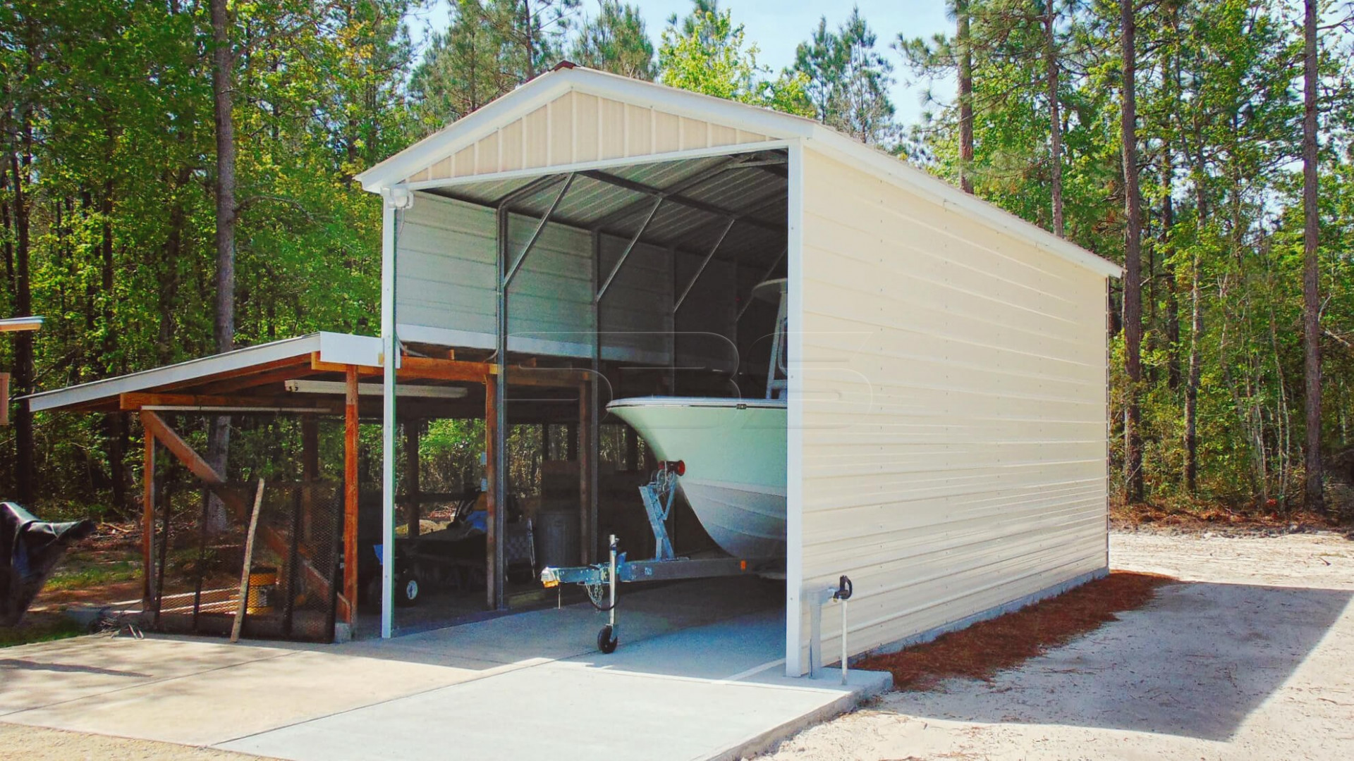 11×11 Metal Boat Carport Carports With Metal Roof