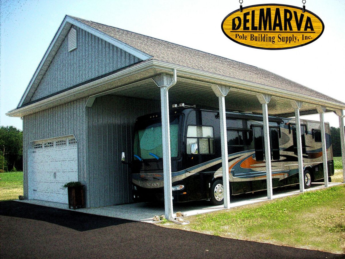 11x11x11 Car Garage And RV Port Pole Building | That's A ..