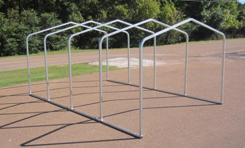 12'W X 18'L X 6'H Carport Frame At Menards® Steel Frame Canopy Carports