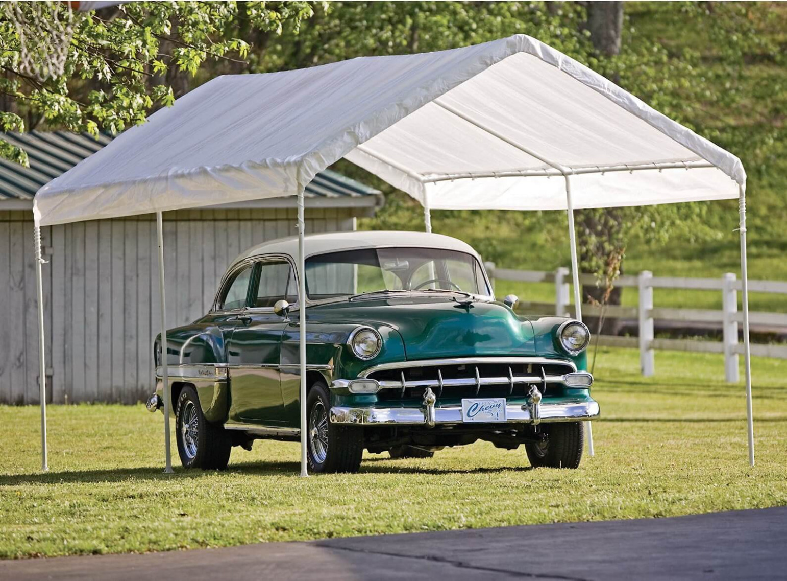 12 Best Carport Canopy Reviews 12   Outdoor Portable Garages Carport Canopy And Frame