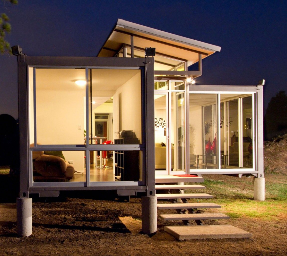 12 Most Beautiful Houses Made From Shipping Containers Shipping Container Carport Ideas