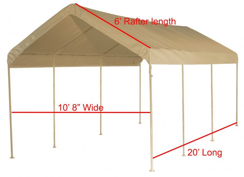 12 X 20 Heavy Duty 12mil Valance Replacement Canopy Tarp ..