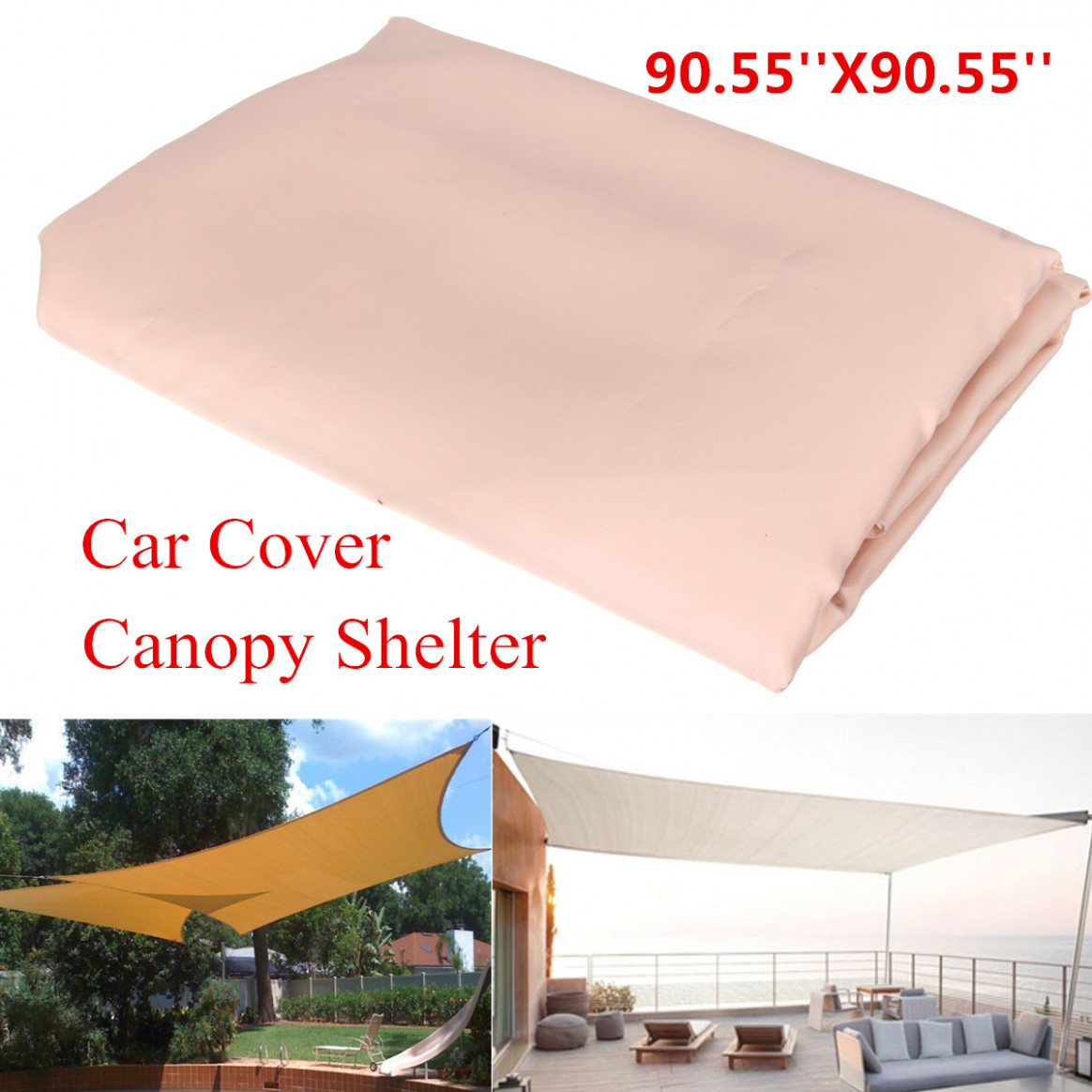 12x12m Patio Outdoor Shade Sail Garden Cover Mesh Net Polyester Car Window Awning Carport Canopy Used Carport Canopy