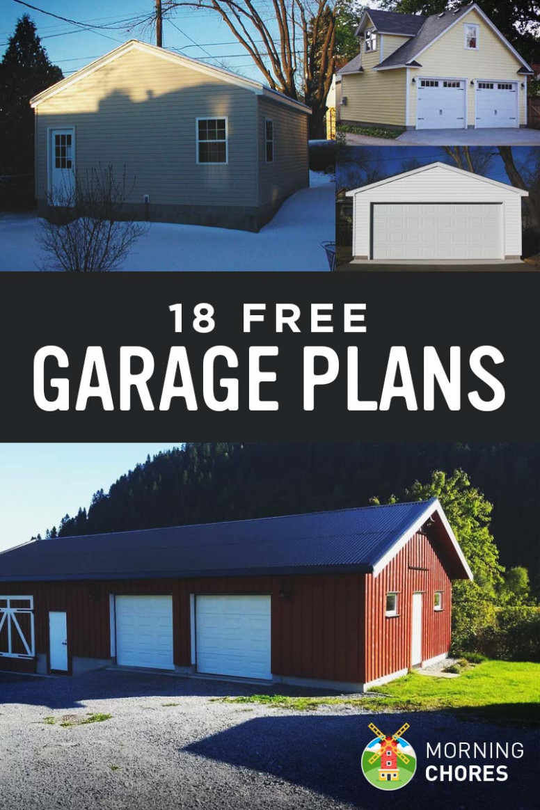13 Free DIY Garage Plans With Detailed Drawings And Instructions Carports Connected To Garage